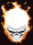 Evil skull on fire Stock Photo