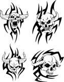 Evil skulls Stock Photography
