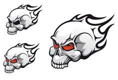 Evil skulls tattoos Stock Photos