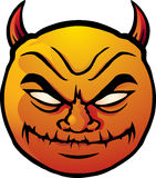 Evil smiley. Cartoon illustration of a devilish, evil smiley face. No gradient meshes or transparency Royalty Free Stock Image
