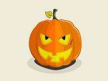 Evil smiling halloween pumpkin-villain Royalty Free Stock Photography