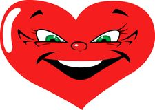 Evil Smiling Heart Royalty Free Stock Photography