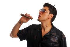 Evil smoker Stock Photos