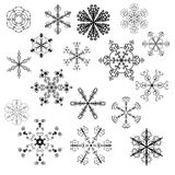 Evil snowflakes vector Royalty Free Stock Photos