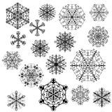 Evil snowflakes vector Stock Photos