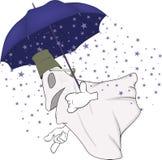 Evil spirits and magic umbrella. Holiday halloween mystery mythology Stock Image