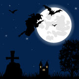 Evil spirits power in night on Halloween Royalty Free Stock Images