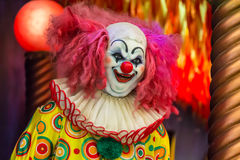 Evil Spooky Clown Smiling. Stock Photo