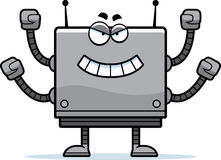 Evil Square Robot Royalty Free Stock Images