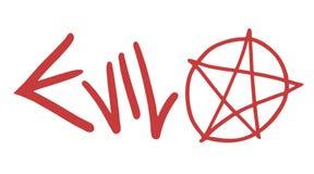 Evil symbol  Royalty Free Stock Photography