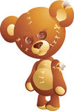 Evil teddy bear. With stitches Stock Photos