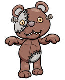 Evil teddy bear stock illustration