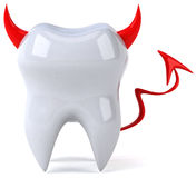Evil tooth. Fun 3D tooth, 3d generated picture Stock Photo