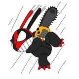 Evil toy rabbit cartoon vector Stock Photo