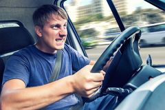 Evil truck driver Royalty Free Stock Images