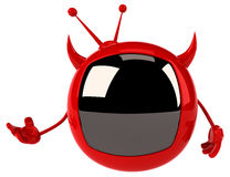 Evil tv Royalty Free Stock Photos
