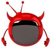 Evil tv Stock Photo