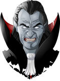 Evil vampire picture Royalty Free Stock Photo