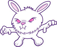 Evil Vampire Rabbit Vector Stock Image