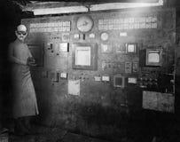 Surreal Vintage Mad Scientist, Laboratory royalty free stock image