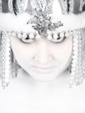 Evil winter girl Royalty Free Stock Images