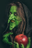 Evil witch with dirty teeth Royalty Free Stock Image