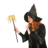 Evil witch googling Stock Image