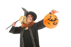 Evil witch for halloween Royalty Free Stock Photography