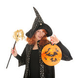 Evil witch for halloween Stock Photos
