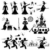 Evil Witch Hunt Witchcraft Black Magic Clipart Stock Photo