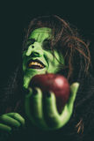 Evil witch laughing Stock Images