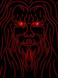 Evil wizard. Sketch of an evil old man or wizard Royalty Free Stock Photography