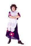 Evil woman, maid Royalty Free Stock Photo