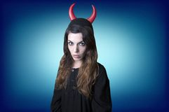 Evil woman Royalty Free Stock Image