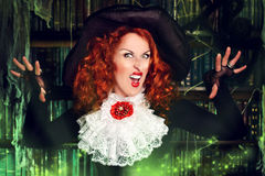 Evil woman Stock Photo