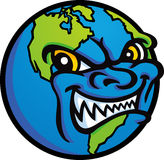 Evil World. The world's looking a little evil today Royalty Free Stock Photography