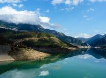 Evinos sjö, Grekland Royaltyfria Foton