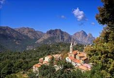 Evisa Korsika Dorf Stockfoto