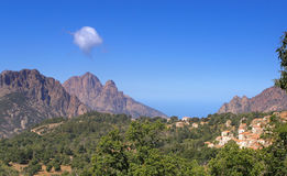 Evisa village in corsica Stock Photography