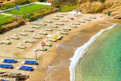 Evita & Karavostasi Beach in resort Bali, Crete Stock Images
