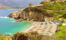 Evita & Karavostasi Beach in resort Bali, Crete Royalty Free Stock Photography