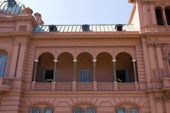 Evita Peron's balcony. Casa Rosada (Pink House) Presidential Palace of Argentina. May Square, Buenos Aires Royalty Free Stock Images