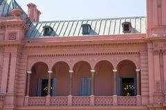 Evita Peron`s balcony.   Casa Rosada Pink House Presidential Palace of Argentina. Evita Peron`s balcony. Casa Rosada Pink House Presidential Palace of Argentina Royalty Free Stock Image