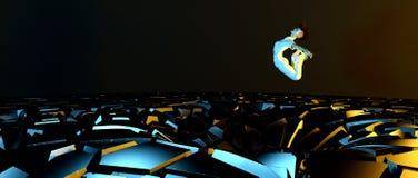 Evitando obstáculos Foto de Stock Royalty Free