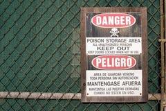 Evite a área de armazenamento do veneno Imagens de Stock