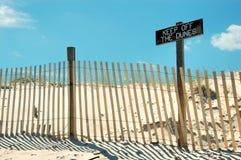 Evite as dunas Imagem de Stock