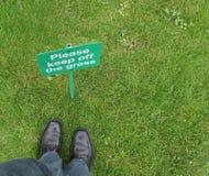 Evite la hierba Imágenes de archivo libres de regalías