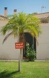Evite la muestra de la hierba Foto de archivo libre de regalías