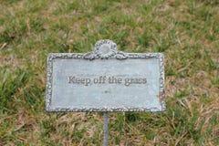 Evite la muestra de la hierba Foto de archivo