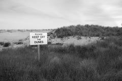 Evite las dunas en la playa Nueva York de Robert Moses Imagen de archivo